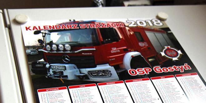 Strażacy Ochotnicy z Gostynia odwiedzą Mieszkańców z kalendarzami