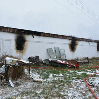 Pożar kurników w Ładzinie. Na miejscu 7 zastępów straży