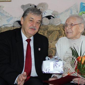 Życzenia dla Jubilatki Pani Heleny Kostrzewa z Wisełki