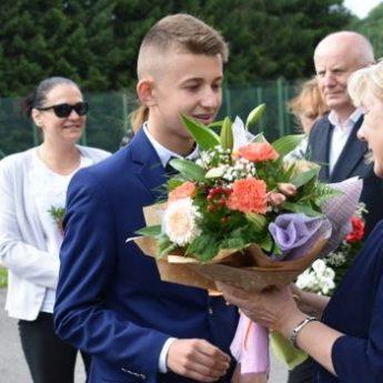 Dyrektor Aldona Kaczmarek żegna się z golczewską szkołą