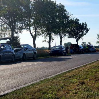 Zderzenie czterech aut pod Kamieniem Pomorskim