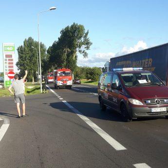 Ochotnicy z Wolina powitali strażaków wracających ze Szwecji [Film]
