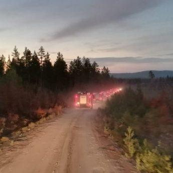 Sytuacja w sektorze Polaków opanowana. Strażacy wracają do domu