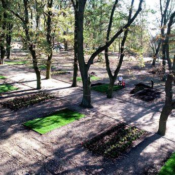 Park im. Jana Pawła II wyłania się z chaosu. Inwestycja z 85% dofinansowaniem pięknieje z dnia na dzień!