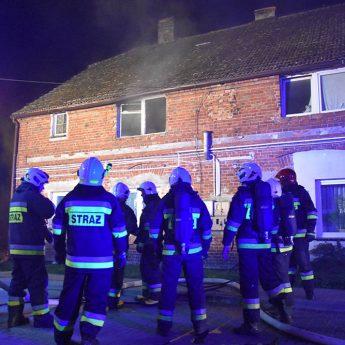 Pożar mieszkania we Wrzosowie