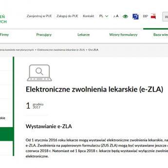 Elektroniczne zwolnienia lekarskie od 1 grudnia