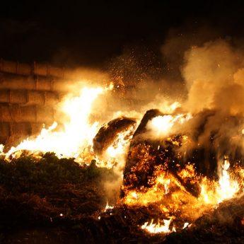 Kolejny pożar pod Gostyniem