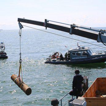 Lotnicza mina morska została zdetonowana. Zobacz zdjęcia!
