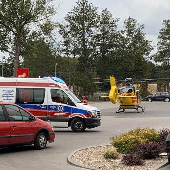 Poparzony mężczyzna przewieziony śmigłowcem do szpitala