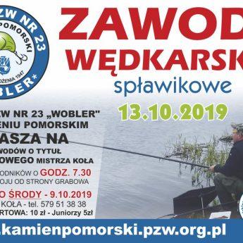 II tura zawodów wędkarskich o tytuł Spławikowego Mistrza Koła PZW z Kamienia Pomorskiego