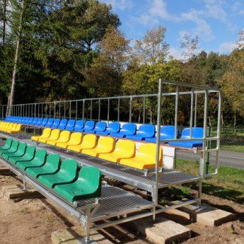 Stadion miejski w Golczewie z nową trybuną