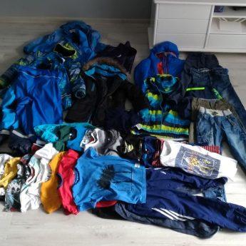 Różne ubrania dla chłopców rozmiarach od 122 do 140
