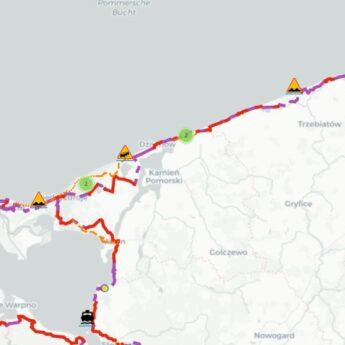 Nowa mapa rowerowa Pomorza Zachodniego. Coraz więcej linii ciągłych