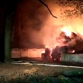 Podpalenie na terenie jednego z gospodarstw w Stuchowie