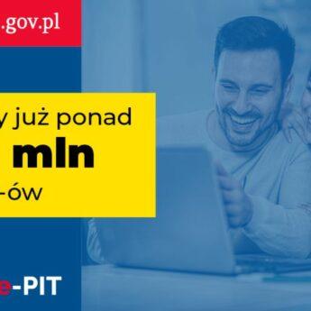 Podatnicy złożyli elektronicznie już ponad 8,5 mln PIT-ów i otrzymali zwrot 5,5 mld zł nadpłaconego podatku