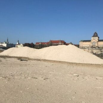 Wyspa Grodzka w Szczecinie zasilona piaskiem z Dziwnowa