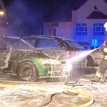 Nocny pożar samochodu w Wolinie. Prawdopodobną przyczyną podpalenie