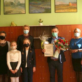 Burmistrz Golczewa z nietypowym wyróżnieniem