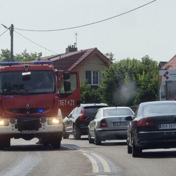 Ślisko we Wrzosowie! Wszystko przez plamę oleju