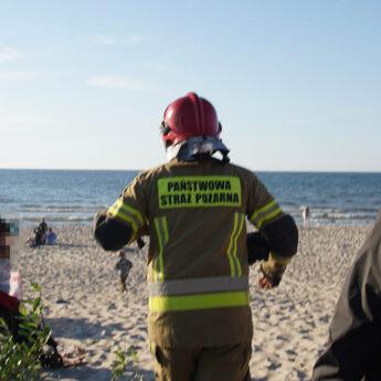 Znów niebezpiecznie na plaży. Interweniowali strażacy i SAR