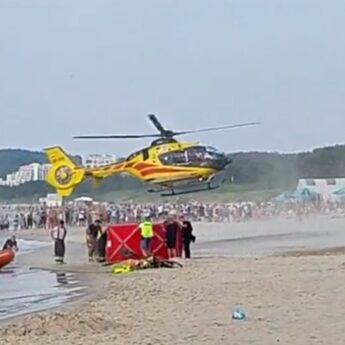 Dramatyczne sceny na plaży w Międzyzdrojach. Trwa reanimacja 16 - latka! [Aktualizacja]