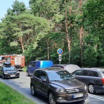 Zderzenie czterech aut pod Świętouściem. 9 osób poszkodowanych!