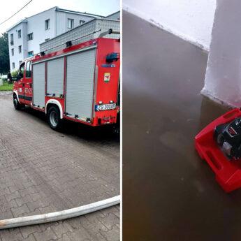 Intensywne opady przysporzyły pracy strażakom