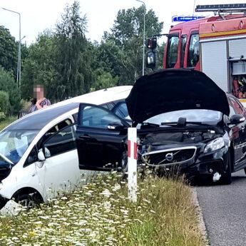 Zderzenie dwóch aut na obwodnicy Kamienia Pomorskiego