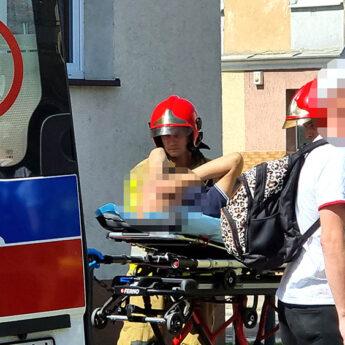 Mężczyzna wymagał pomoc. Interweniowali strażacy