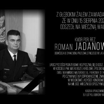Odszedł komandor porucznik Roman Jadanowski