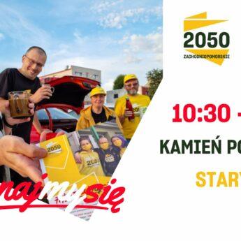 Wolontariusze i członkowie Stowarzyszenia Polska 2050 w Kamieniu Pomorskim
