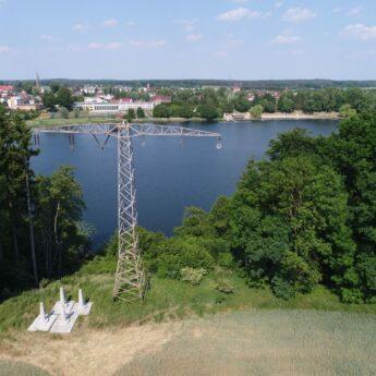 Linie energetyczne nad golczewskim jeziorem zdemontowane