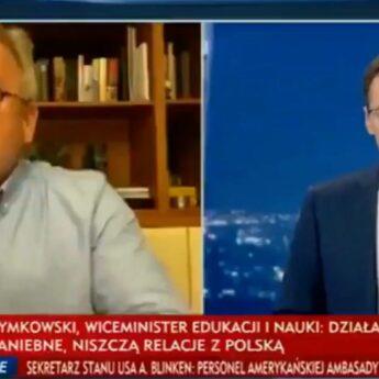 Poseł Łącki o antysemityzmie Polaków. Ośrodek Monitorowania Antypolonizmu mówi o niegodnym zachowaniu
