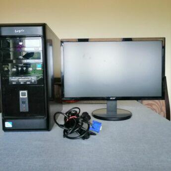zestaw komputer i montor