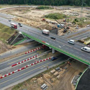 Część autostrady znów zostanie zamknięta. Ruszają prace na węźle Kijewo